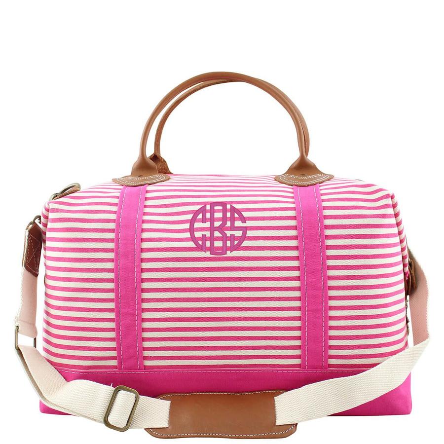Striped Canvas Weekender Bags, Canvas weekend travel bag