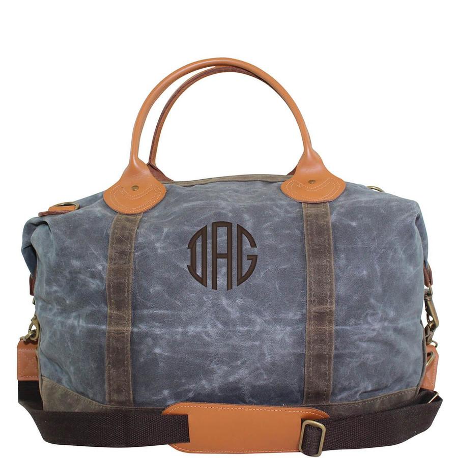 Waxed Canvas Weekender Bags, Travel Shoulder Bag