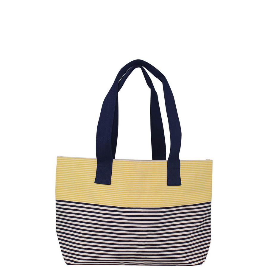 Canvas Striped Beach Bag
