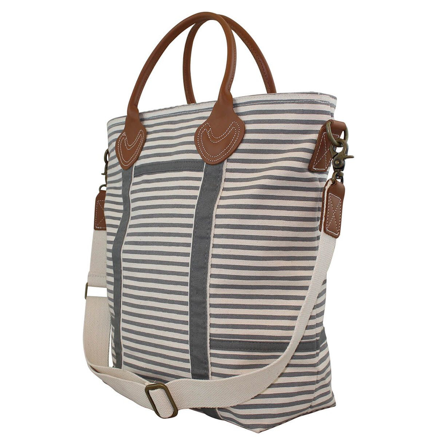 Striped Canvas Flight Travel Bag, Multifunctional Travel Bag