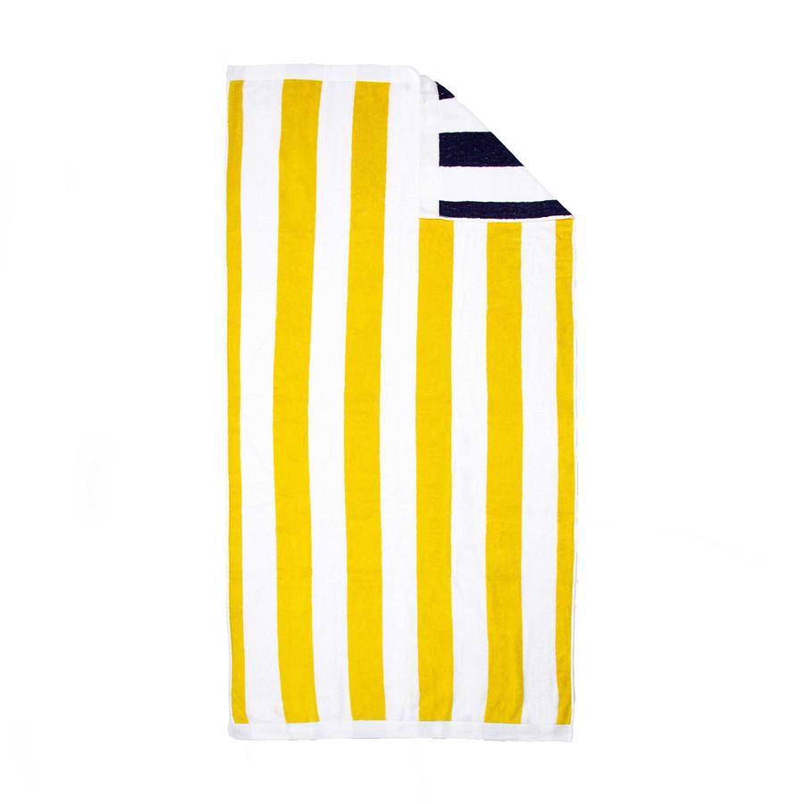 Reversible Striped Beach Towel, Luxury Cabana Beach Towel