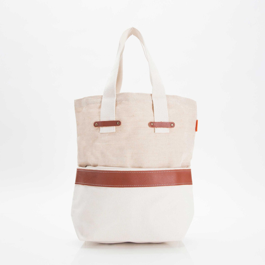 Jute and Canvas Tote
