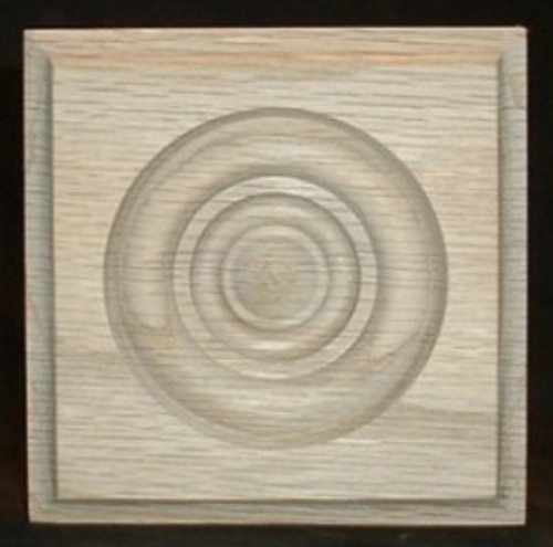 Oak bullseye rosette, cove edge