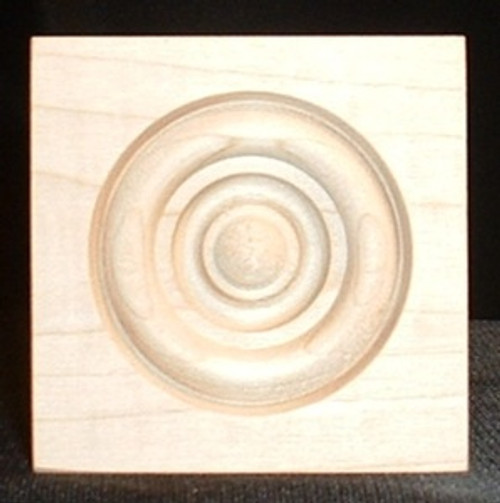 Maple bullseye rosette, square edge