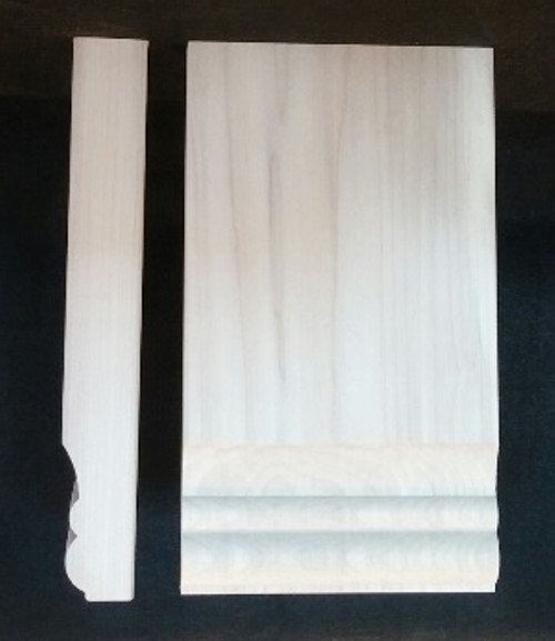 Plinth block with 2 bead edge.  Solid wood - poplar.  Classic look for your baseboards, moldings, and window casings