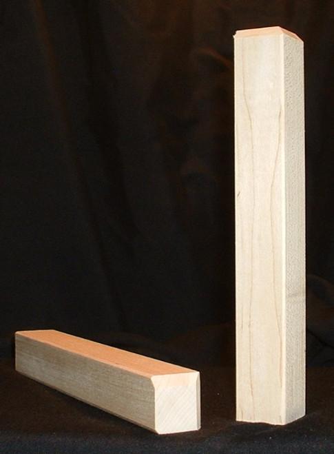 Maple inside corner with beveled edge