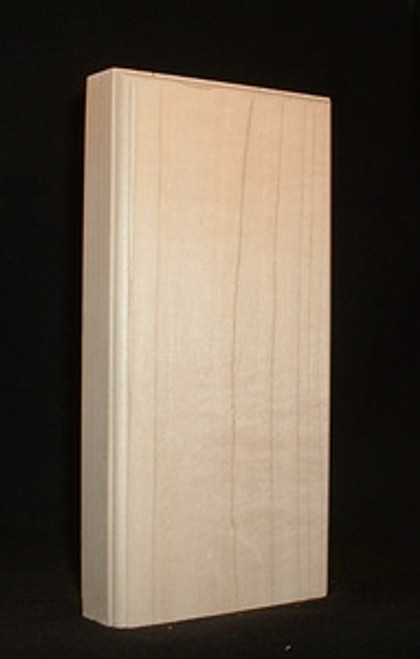 Maple plinth block, contemporary style