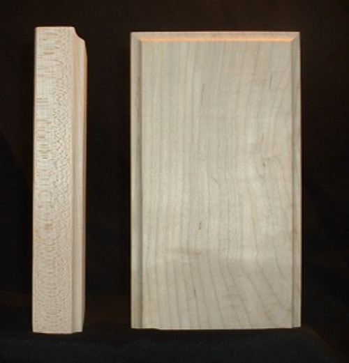 Maple plinth block, cove edge
