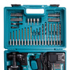 Makita HR166DSAE1 10.8V CXT SDS Plus Rotary Hammer (2 x 2.0Ah Batteries) with 65 Accessories - 1