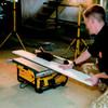 Dewalt DW745RS Heavy Duty Lightweight Table Saw with Leg Stand 240V - 1