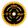 Dewalt DT10640-QZ Extreme Framing Circular Saw Blade 165mm x 20mm x 40T - 1