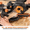 Evolution R185 SMS+ TCT Multi-Material Cutting Sliding Mitre Saw 185mm 240V - 6