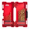 Buy Milwaukee 48894759 HSS-G Titanium Drill Set for Metal (10 Piece) at Toolstop