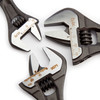 Bahco ADJUST 3-90 Ergo Central Nut Adjustable Wrench Set (Pack Of 3) - 1