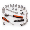 "Bahco S330 Socket Set with Metric Hex Profile and Ratchet 1/4"" and 3/8"" Square Drive (34 Piece) - 3"