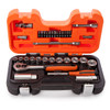"Bahco S330 Socket Set with Metric Hex Profile and Ratchet 1/4"" and 3/8"" Square Drive (34 Piece) - 4"
