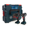 Buy Bosch 06019J2103 Professional Brushless Twin Pack - GSB 18V-55 Combi Drill + GDR 18V-200 Impact Wrench (Body Only) at Toolstop