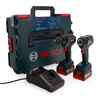 Bosch 06019J2170 Professional Brushless Twin Pack - GSB 18V-55 Combi Drill + GDR 18V-200 Impact Wrench (2 x 4.0Ah Batteries) - 1