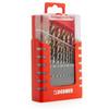 Dormer A087201 A002 HSS-TiN Coated Tip Jobber Drill Set in Case (19 Piece)