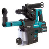 Makita HR004GD202 40Vmax XGT Brushless SDS Plus Rotary Hammer with Quick Change Chuck & DX14 Dust Box (2 x 2.5Ah Batteries)