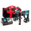 Makita 18V Twin Pack - DTD153 Impact Driver + DHR202 SDS Plus Rotary Hammer (2 x 3.0Ah Batteries) 2