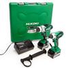 HiKOKI KC18DKL 18V Twin Pack - DV 18DSDL Combi Drill + WH 18DGL Impact Driver (2 x 5.0Ah Batteries) 2