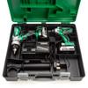 HiKOKI KC18DKL 18V Twin Pack - DV 18DSDL Combi Drill + WH 18DGL Impact Driver (2 x 5.0Ah Batteries) 7