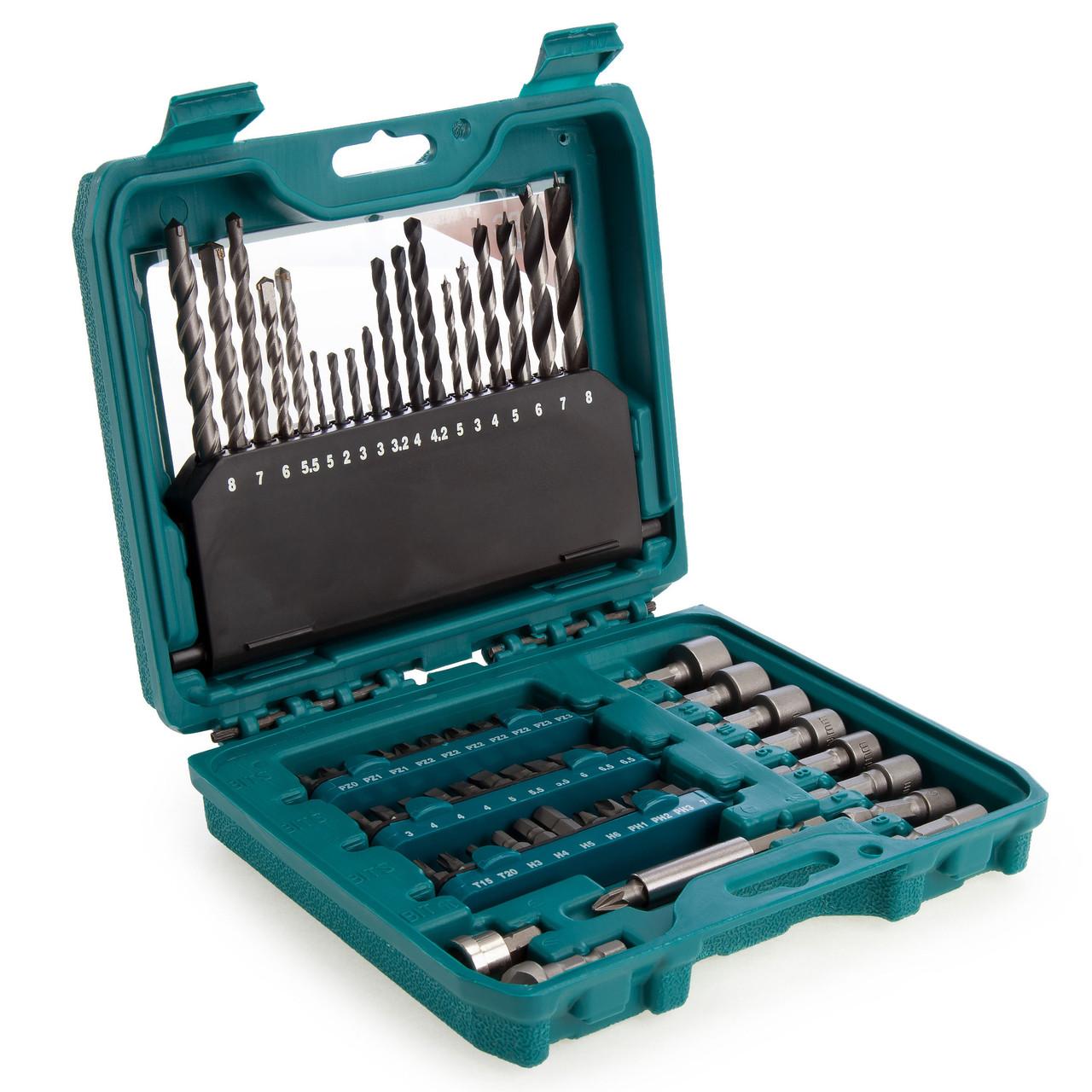 Makita P-90358 60 Piece Pro Drill and Bit Accessory Set