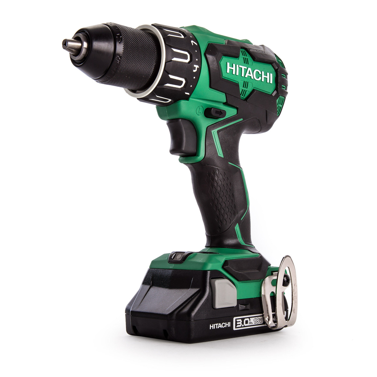Hitachi DV18DBFL2 18V Brushless Combi Drill 2 x 3Ah Batteries,Charger /& Case
