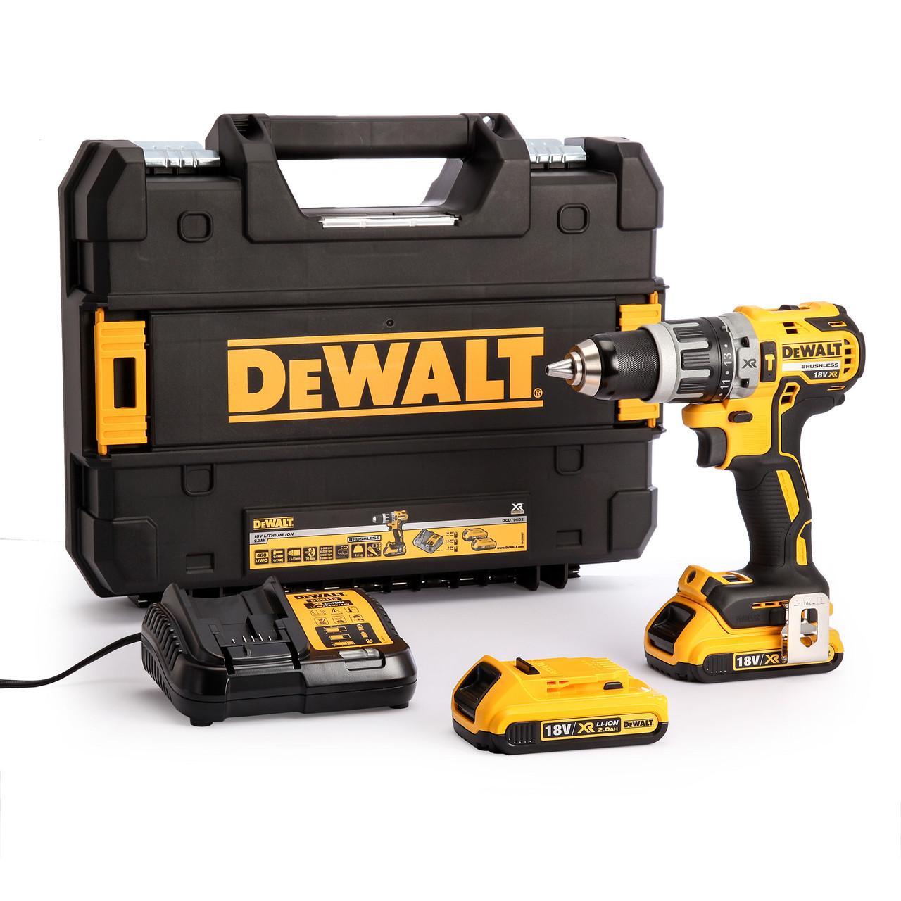 Dewalt DCD796P2 Combi Drill 18V XR Brushless Compact Li