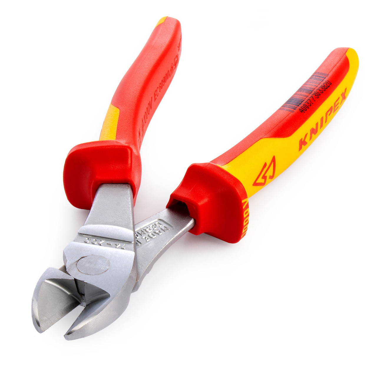 Knipex 180mm High Leverage Diagonal Side Cutters 1000V VDE Insulated 74 06 180