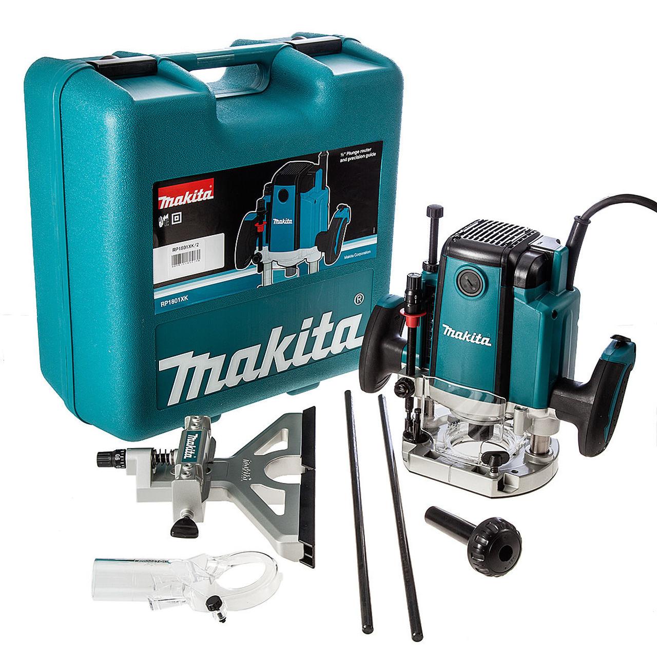 Makita Rp1801xk 1 2in Plunge Router In Kitbox 240v