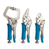 Buy BlueSpot 6528 Mini Locking Plier & Clamp Set (3 Piece) at Toolstop