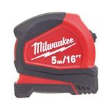Milwaukee 4932459595 Pro Compact Tape Measure 5m / 16ft - 1