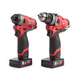 Milwaukee M12FPP2A-602X 12V Combi Drill and Impact Driver with Charger (2 x 6.0Ah Batteries) - 5