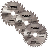 Buy Trend 190mm Sawblade Triple Pack - 24T, 24T and 40T at Toolstop