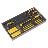 Buy Siegen S01131 Tool Tray With Prybar, Hammer & Punch Set 23pc at Toolstop