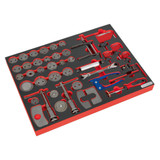 Buy Sealey TBTP10 Tool Tray With Brake Service Tool Set 42pc at Toolstop