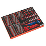 Buy Sealey TBTP07 Tool Tray With Specialised Bits & Sockets (177 Piece) at Toolstop