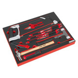 Buy Sealey TBTP06UK Tool Tray With Hacksaw, Hammers & Punches (13 Piece) at Toolstop