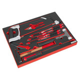 Buy Sealey TBTP06EU Tool Tray With Hacksaw, Hammers & Punches (13 Piece) at Toolstop