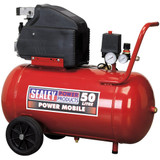 Sealey SA5020 Compressor 50ltr Direct Drive 2hp - 4