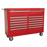 Buy Sealey AP5213T Rollcab 13 Drawer with Ball Bearing Runners - Red at Toolstop