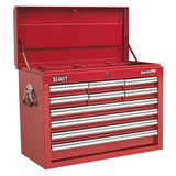 Buy Sealey AP33109 Topchest 10 Drawer With Ball Bearing Runners - Red at Toolstop