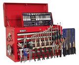 Buy Sealey AP33059COMBO Topchest 5 Drawer With Ball Bearing Runners - Red & 138pc Tool Kit at Toolstop