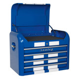 Buy Sealey AP28104BWS Topchest 4 Drawer Retro Style - Blue With White Stripes at Toolstop