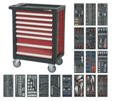 Buy Sealey AP2408TTC08 Rollcab 8 Drawer With Ball Bearing Runners & 707pc Tool Kit at Toolstop