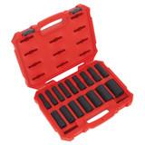 Buy Sealey AK5817M Metric Impact Socket Set 1/2in Square Drive Deep Lock-On 6pt (16 Piece) at Toolstop