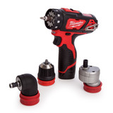 Milwaukee M12BDDXKIT-202C 4-in-1 Cordless Drill Driver (2 x 2.0Ah Batteries) with Attachments - 7
