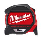 Milwaukee 48227308 Metric Premium Mag Tape Measure 8m  - 4